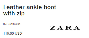 Ankle Boots by Zara