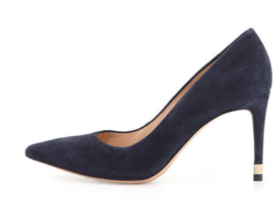 Tory Burch Greenwich Suede Pump, Tory Navy