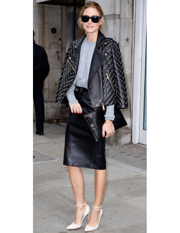 Olivia Palermo in Biker Jacket