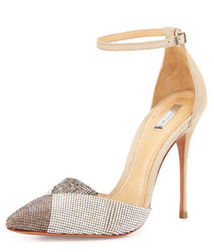 Emanuely Metallic Crystal-Studded Pump by Schutz