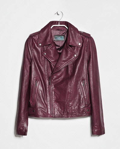 Leather Biker Jacket by MANGO