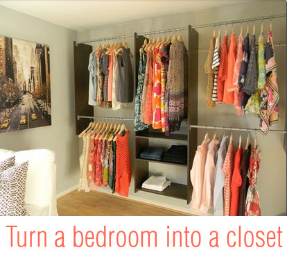 Turn a Bedroom into a closet
