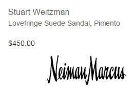 Stuart Weitzman, Lovefringe Suede Sandal in Pimento