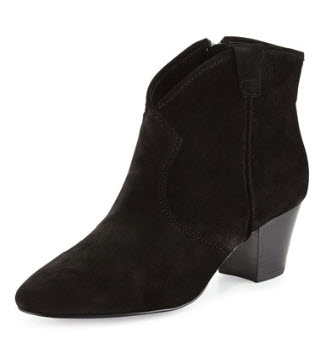 Suede Ankle Bootie by Ash
