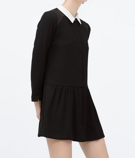 Peter Pan collar jumpsuit by Zara