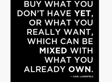Buy what you don't have yet, or what you really want