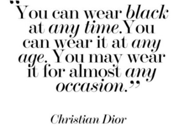 You can wear black at anytime.