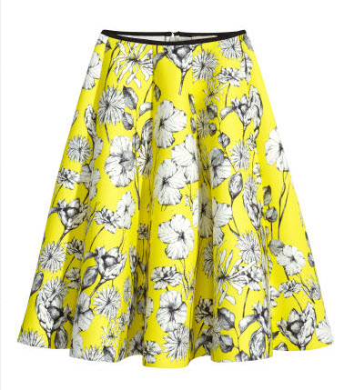 Scuba-look circle skirt by H&M