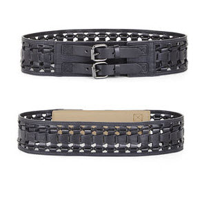 WOVEN CORD FAUX-LEATHER LOOPS WAIST BELT by BCBG