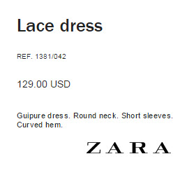 Lace Dress by Zara