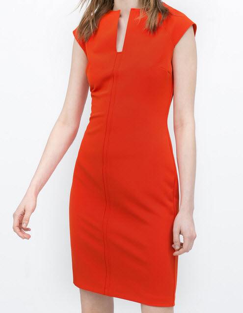 Tangerine Shift Dress