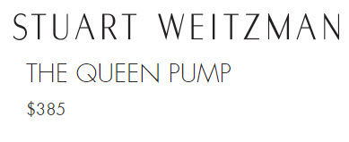 Stuart Weitzman Queen Pumps