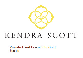 Kendra Scott Yasmin Hand Chain bracelet