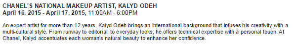 CHANEL's National Makeup Artist Kalyd Odeh