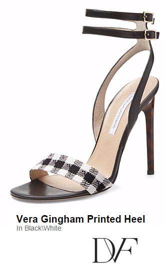 Vera Gingham Printed heel by DVF