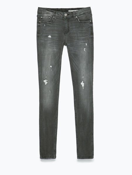 Distressed Denim by Zara.com