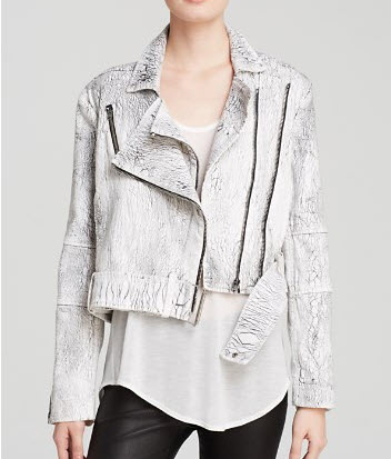 Helmut Lang Jacket - Lightening Wash Denim Biker