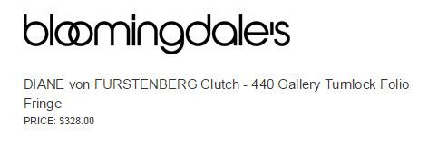 DIANE von FURSTENBERG Clutch - 440 Gallery Turnlock Folio Fringe