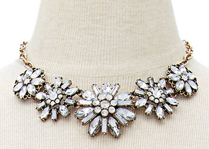 Bejeweled Floral Necklace