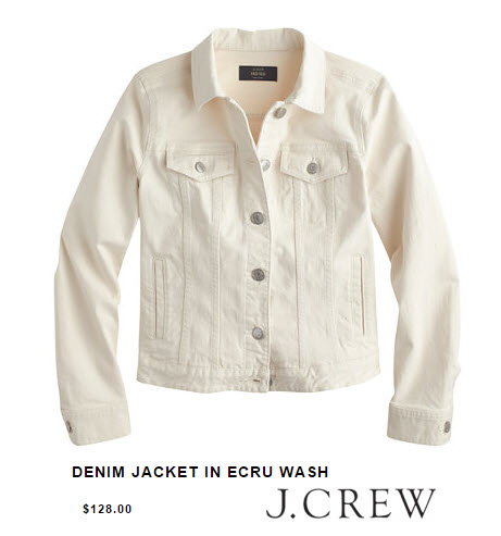 J.Crew Denim Jacket in Ecru Wash