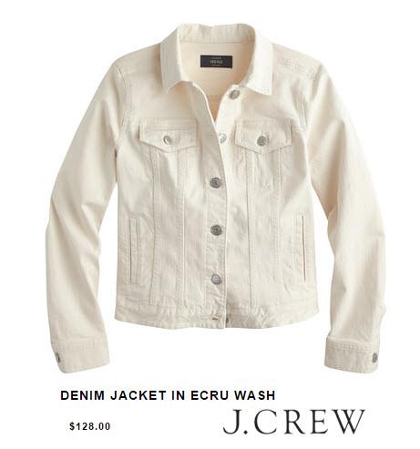 J.Crew Denim Jacket in Ecru