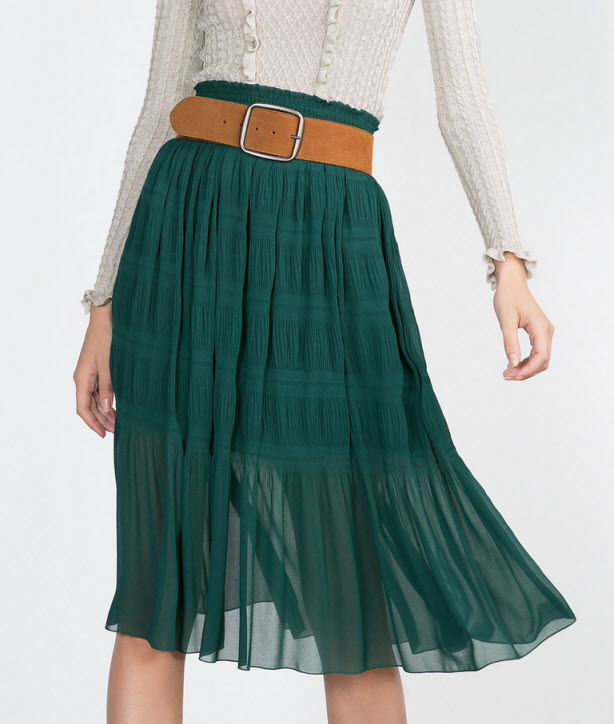 Emerald Skirt by Zara