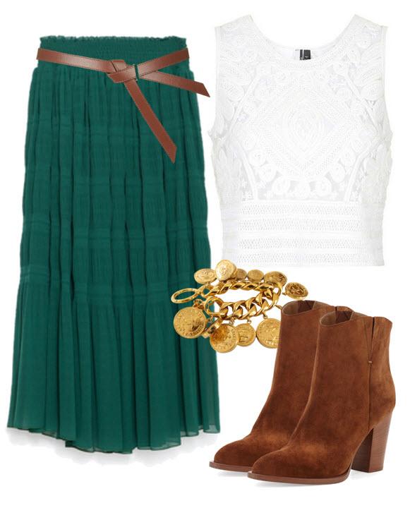 Bohemian Chic in Emerald Green