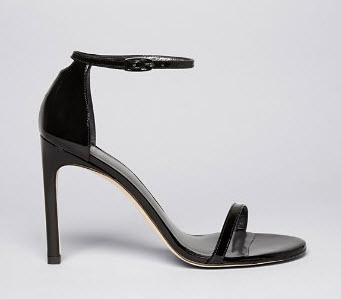 Stuart Weitzman Ankle Strap Sandals - Nudistsong High Heel Patent