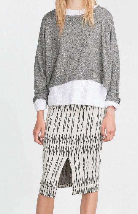 Casual Jacquard Skirt