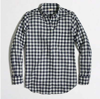 J. Crew Factory Gingham Button Down