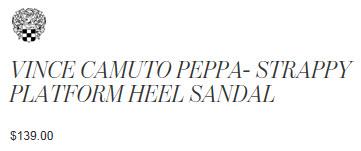 VINCE CAMUTO PEPPA- STRAPPY PLATFORM HEEL SANDAL