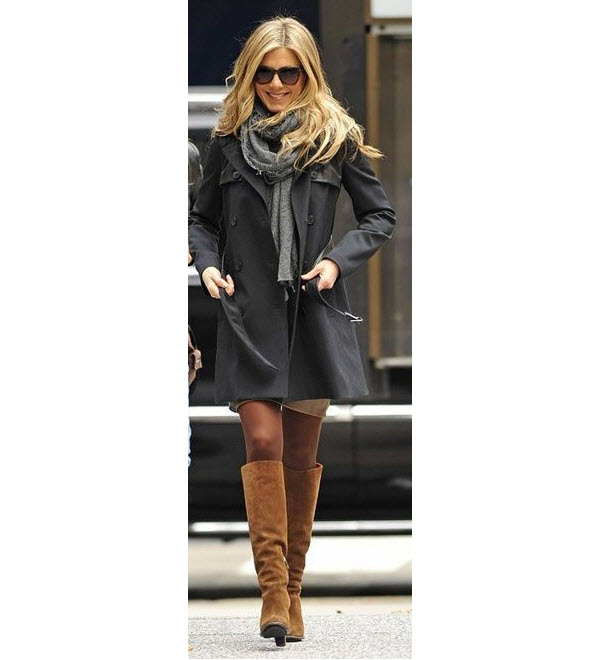Jennifer Aniston in Tall Brown Boots