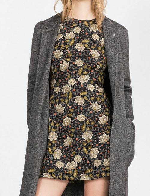 FULL SHORT PRINTED DRESS by Zara