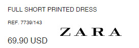 FULL SHORT PRINTED DRESS by Zara