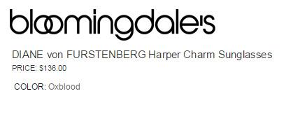 DIANE von FURSTENBERG Harper Charm Sunglasses