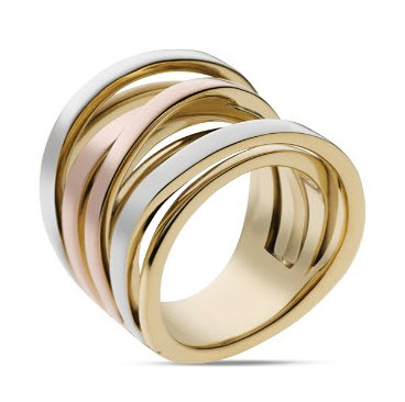 Michael Kors Tri-Tone Intertwined Ring