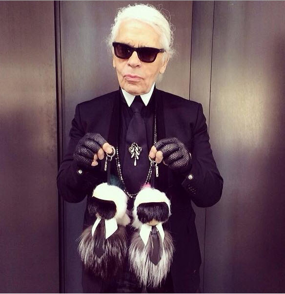 Karl Lagerfeld Fur Ball
