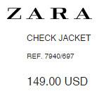 Check Jacket by Zara