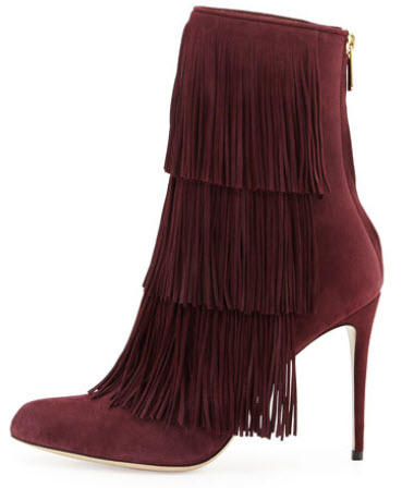Paul Andrew Taos Suede Fringe Ankle Boot