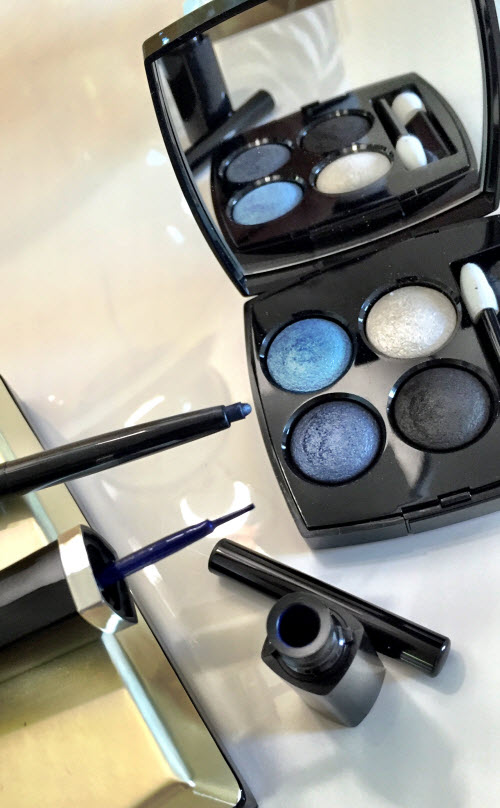 Blue Rhythm Eye Shadow with two eyeliners