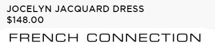 JOCELYN JACQUARD DRESS