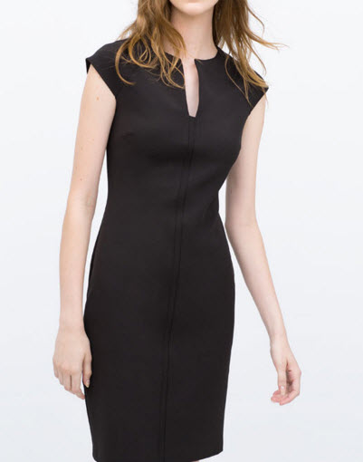 TUBE DRESS WITH RAGLAN SLEEVES