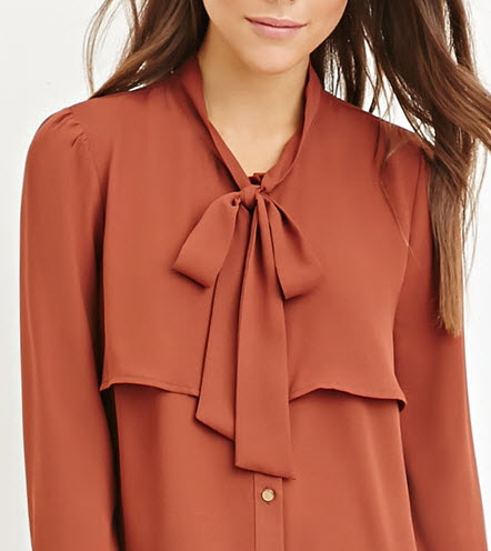 Flounced Self-Tie Blouse by Forever 21