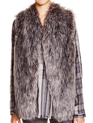 DKNY Pure Faux Fur Vest