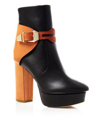 Jerome C. Rousseau Nielo Two-Tone Platform Booties