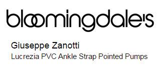 Giuseppe Zanotti Lucrezia PVC Ankle Strap Pointed Pumps