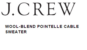 J.Crew WOOL-BLEND POINTELLE CABLE SWEATER