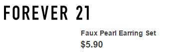 Faux Pearl Earring Set