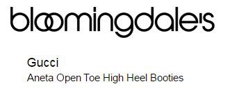 Gucci Aneta Open Toe High Heel Booties
