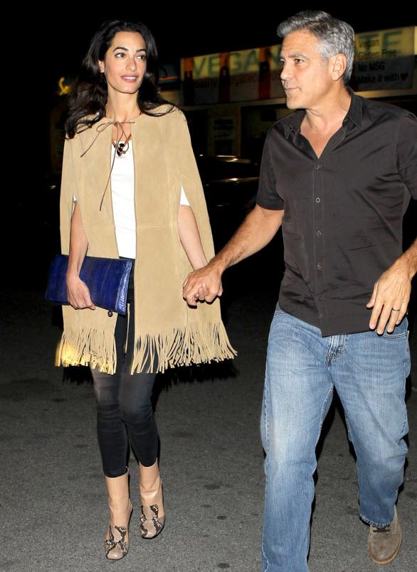 Amal Clooney in Fringe Studio Cape
